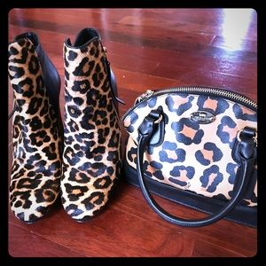 Michael Kors ankle boots with Coach purse